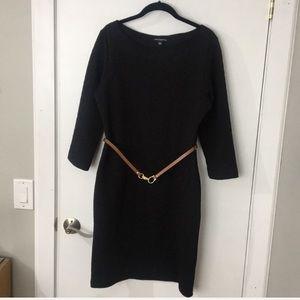 Sharagano black dress